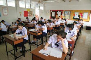 นักเรียนระดับชั้นมัธยมศึกษาปีที่ 1และ2 สอบด้วยข้อสอบกลาง